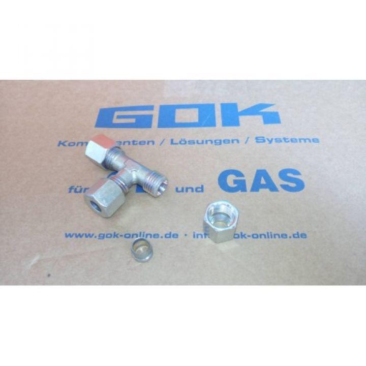 Трійник газовый Т-подібний RVS8 mm * RVS8 mm для зєднання труб діаметром 8мм