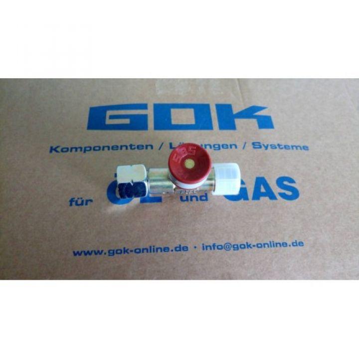 Запобіжний пристрій при прориві шлангу GOK 1.5 бар 3кг/год G3/8LH UEM*G3/8LN-KN ручн.