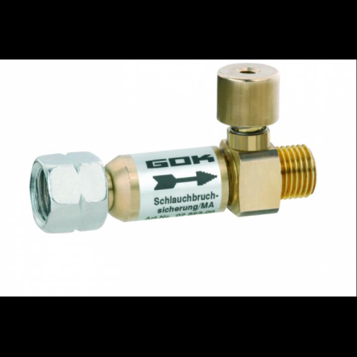 Запобіжний пристрій при пошкодженні шланга GOK 16бар 1,5кг/год 50мібар 1/4LH-KH руч.