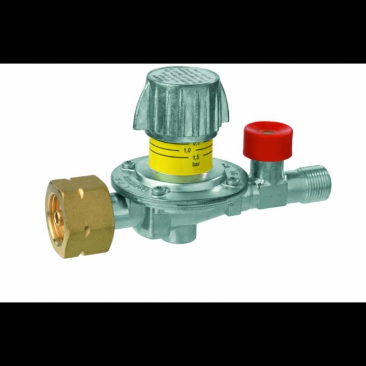 Регулятор середнього тиску газу GOK M50-V/SBS 6кг/год 0,5-4бар Komb.A x G3/8LH-KN SBS шкала