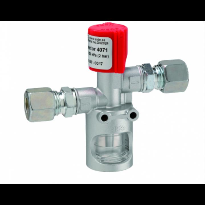 Контрольний сигналізатор для виявлення пошкодженої системи газопровода RVS8 * RVS10