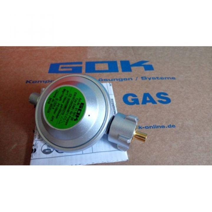 Регулятор тиску газу gok 1 кг/год 50мбар PS16 bar для балона з евровентилем KLF
