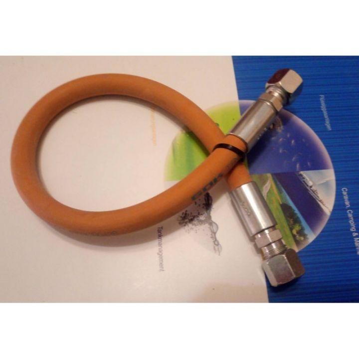 Шланг газовий комплектуючий морозостійкий -30 RVS8 * RVS8 400 мм