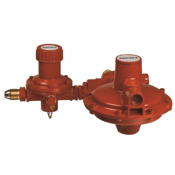 Регулятор комбінований эмності газу для прямого підключення до газгольдера з ПСК та ПЗК POL IG G1 50 мбар 60 кг/год