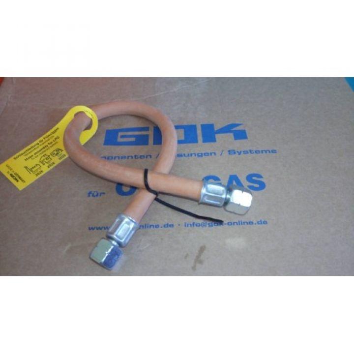 Шланг газовий комплектуючий для підключення гриля 400 мм GOK гайка 1 / 4 ліва - 1 / 4 ліва