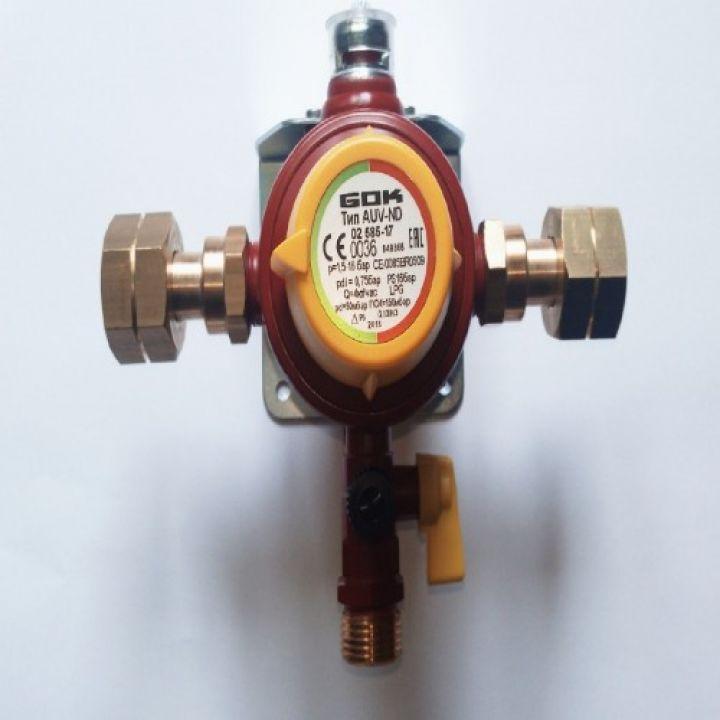 Автоматичний перемикаючий клапан AUV-ND 4 кг/год 50 мбар M20x1,5xAG G1/2 GF-адаптер ПСК