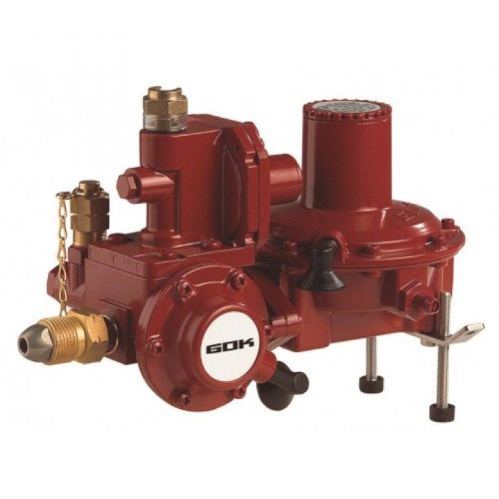 Регулятор тиску газу з ПЗК та ПСК до газгольдера POL * RVS труба діаметром 18мм 50 мбар 12 кг/год