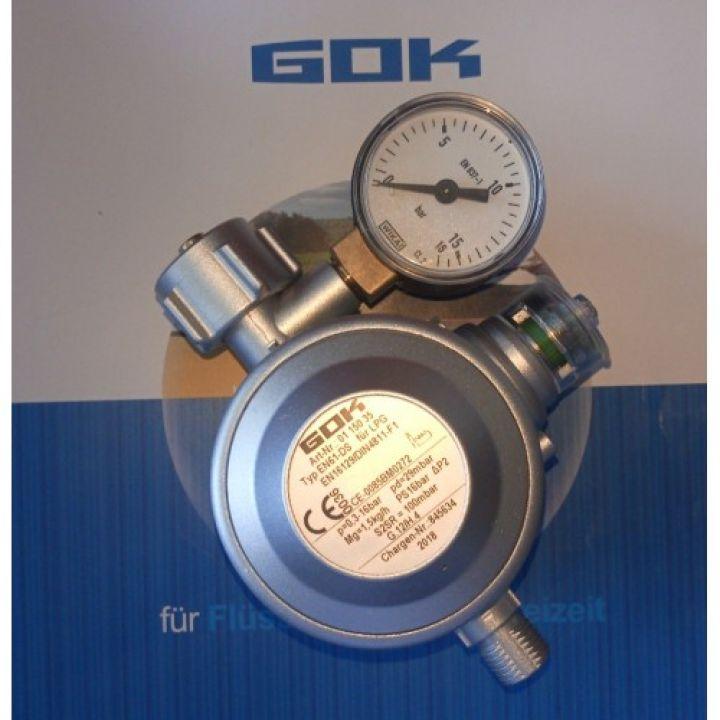 Двух камерний газовий регулятор GOK 1.5 кг/час 29 (30) мбар EN 61-DS KLF*G1/4LH-KN