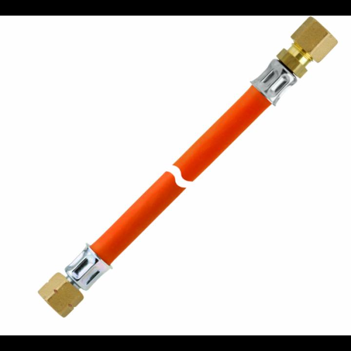 Шланг газовий комплектуючий -30 фітинг латунь 1/4 ліва * RVS 8 довжина 400мм