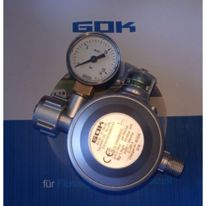 Двух камерний газовий регулятор GOK EN 61-DS 1,5 кг/час 50мбар KLF*G1/4LH-KN