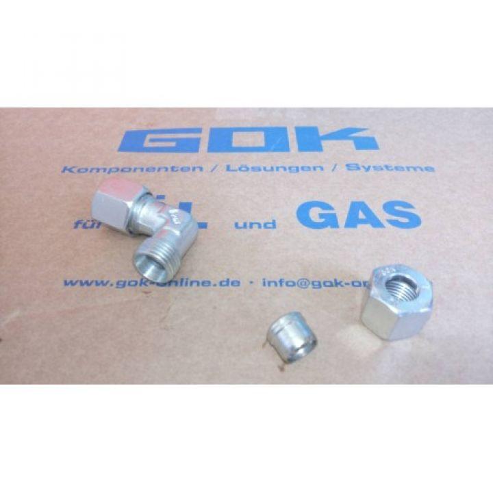 Кут з'єднувальний газ W-RVS8 x RVS8  для зєднання труби діаметром 8мм