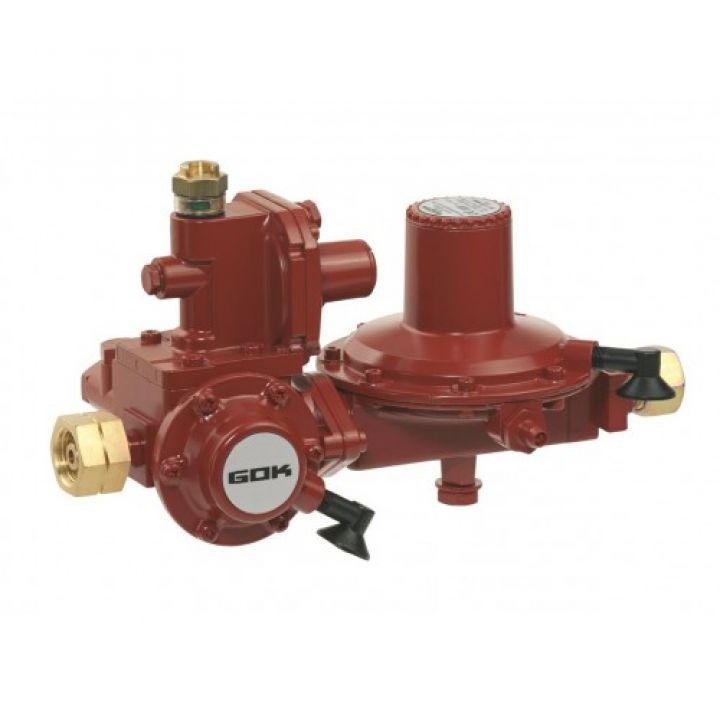 Регулятор тиску газу з ПЗК та ПСК GF * RVS діаметер 15мм на 50мбар 12кг/год