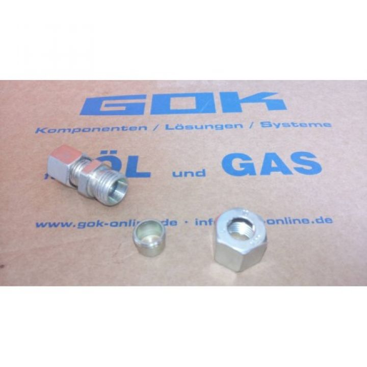 Газовий адаптер перехідник прямий GR-RVS8 x RVS10 для зєднання труб діаметром 8мм з переходом на 10мм