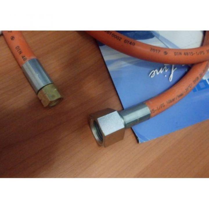 Шланг газовий для з'єднання обладнання 1/4L - 1/2R 3 м