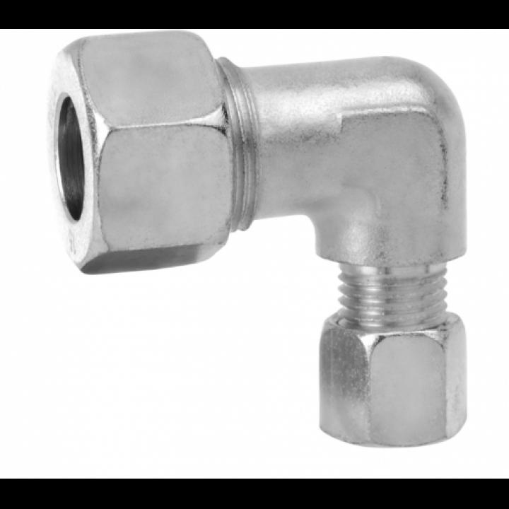 Кут зєднувальний газ RVA10 * RVS8 для труб діаметром зєднання 10 мм та 8 мм